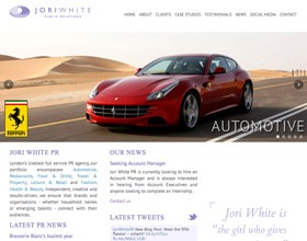 New Jori White PR website