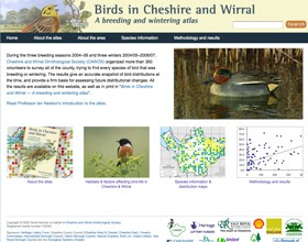 Birds of Cheshire & Wirral website