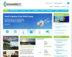 RenewableUK new website