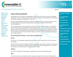 RenewableUK old website