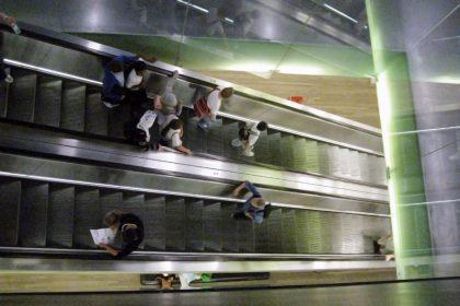 Motion people escalator