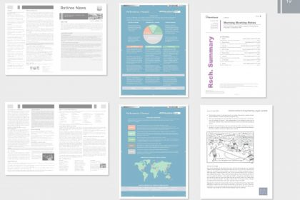 DTP InDesign corporate document design newsletters